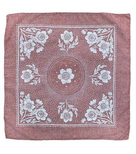 Organic Cotton + Hemp Bandana - Anemone // Ruby Chambray