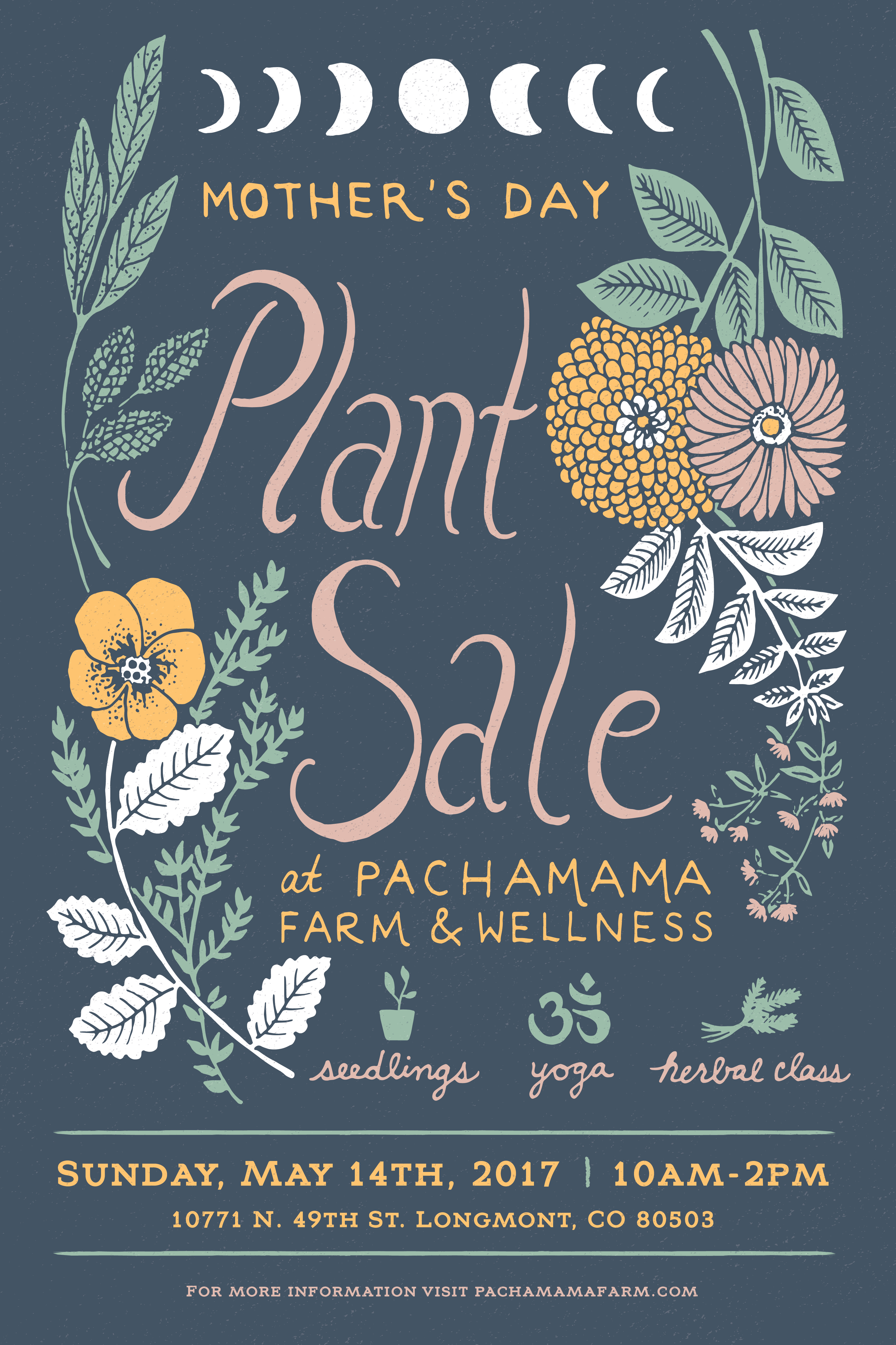 Pachamama Plant Sale Poster 2