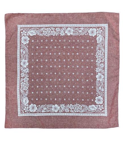 Organic Cotton + Hemp Bandana - Folk Floral // Ruby Chambray