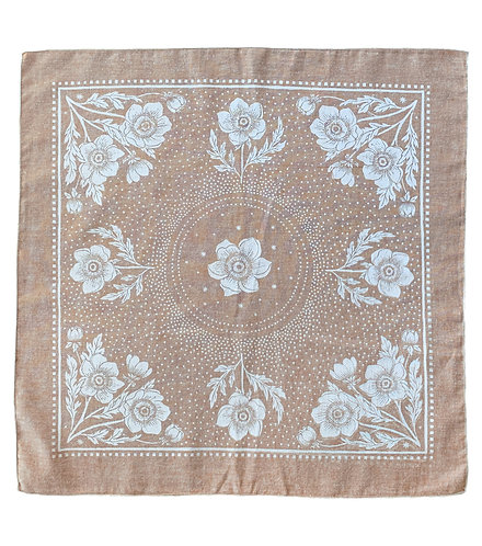 Organic Cotton + Hemp Bandana - Anemone // Rust Chambray