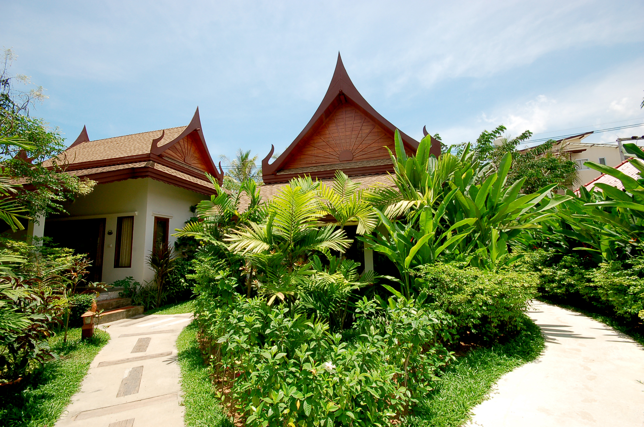 bungalow outside