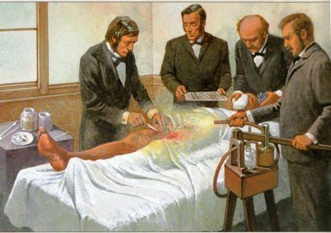 Joseph Lister Performing Antiseptic Surgery Using The 'Donkey Engine'