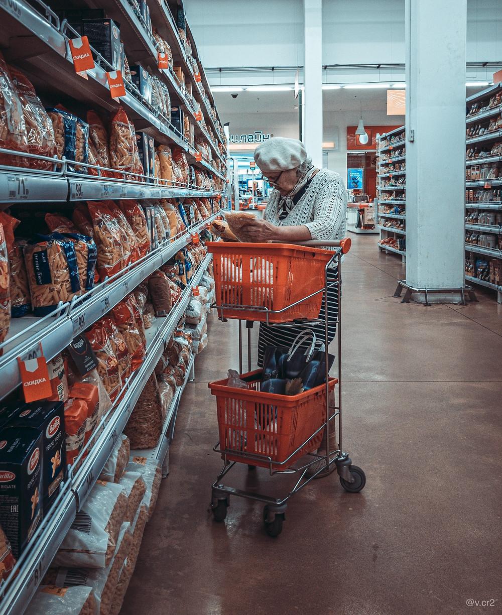 Supermarket, Old Lady