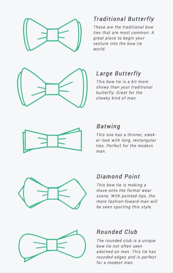 Shapes of Bow Ties