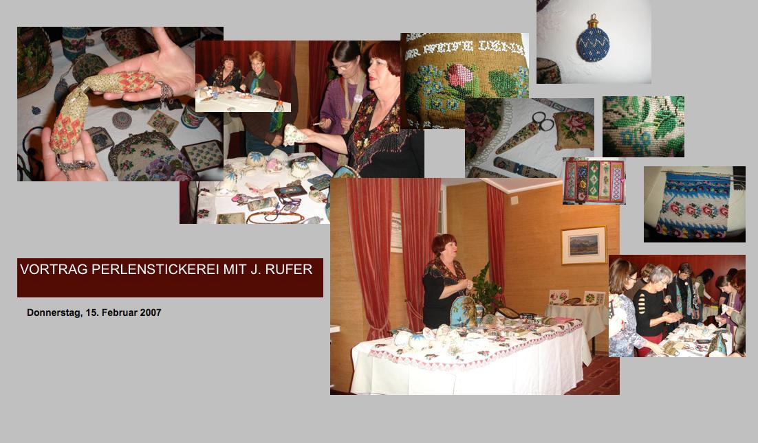 Vortrag Perlenstickerei mit J. Rufer