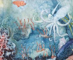 watercolor on yupo by Brenda Jones