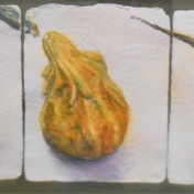 """""""Gourd Trio"""" watercolor by Pam Curtis $200"""