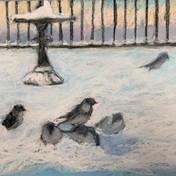 """Georg's Balcony"" pastel by Jeanne Gugino $350"