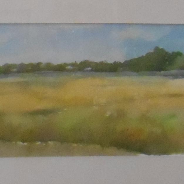 """""""Mattapoisett"""" watercolor by Natahsa Broude $200"""