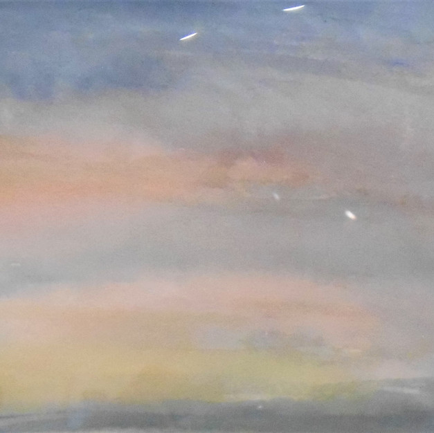 """Dawn Sky"" watercolor by Loretta M. Dixon  $90 (unframed)"
