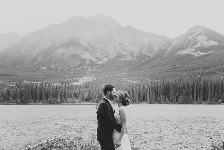 Pyramid Lake Island Wedding