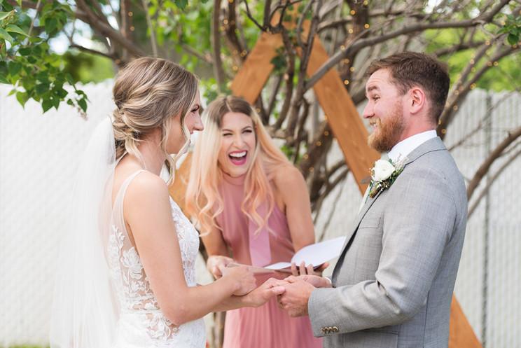 Sarah & Chris | A Cozy Edmonton Backyard Wedding