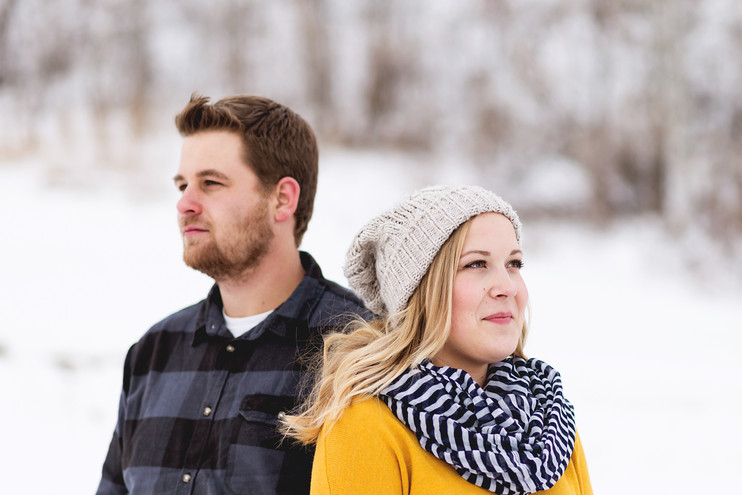 Sara + Luke | Winter Engagement
