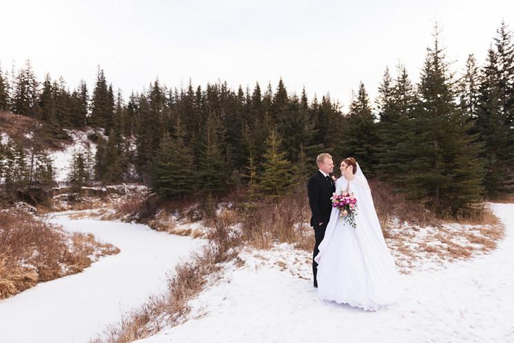 Meagan + Craig   YEG Winter Wedding