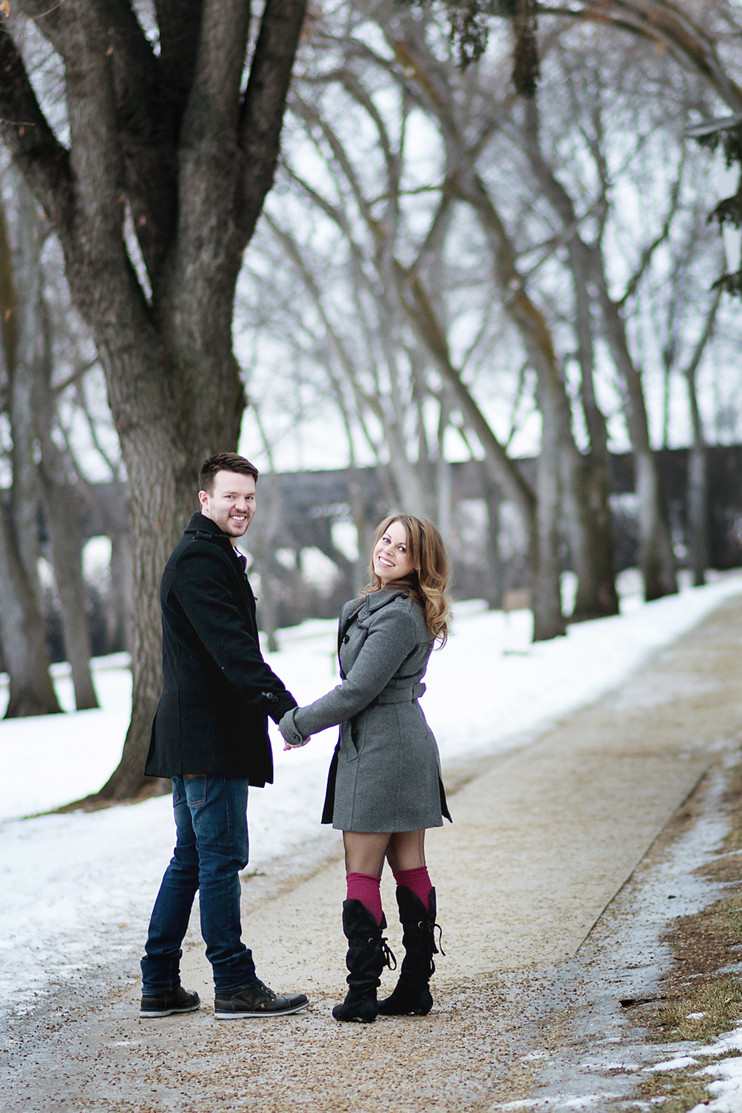 A Christmas Engagement Session