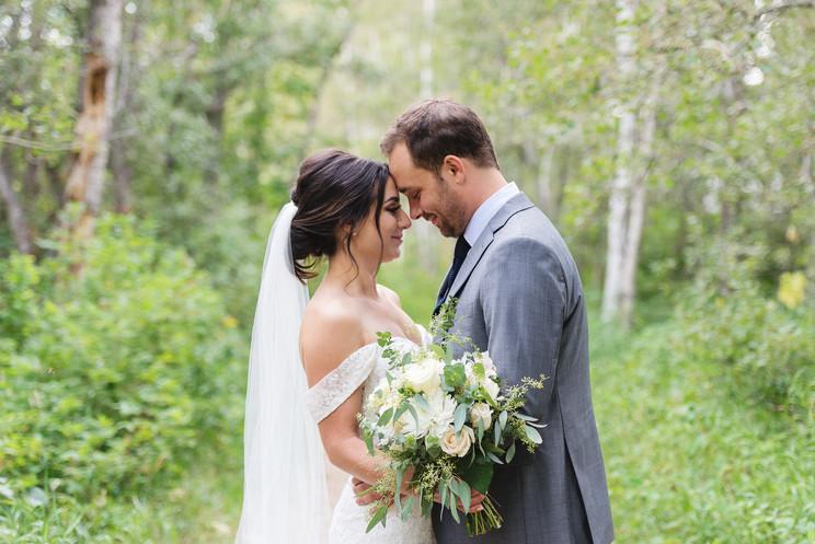 Candace & Cailin | An August Backyard Wedding in Sherwood Park