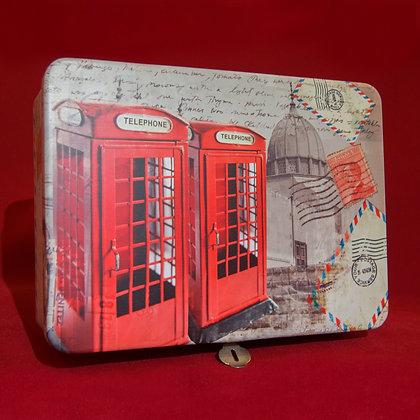 Caja Metalica Telephone III con candado