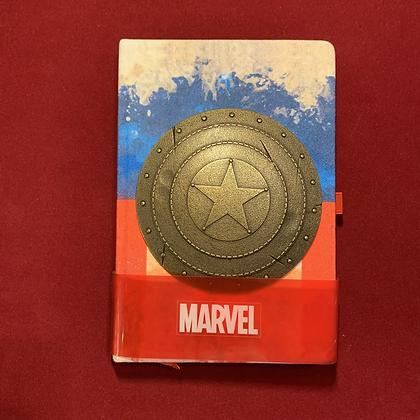 Libreta Capitán America logo Metálico