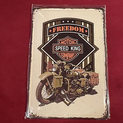 Placa Harley Davidson  20cm x 30 cm
