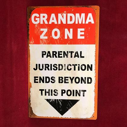Placa Grandma Zone