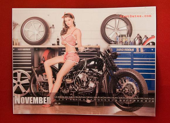 Pin-Up Motorcycle