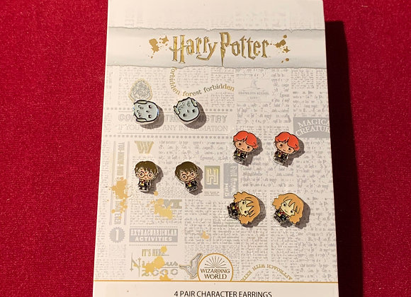 Aretes Harry Potter set x 4