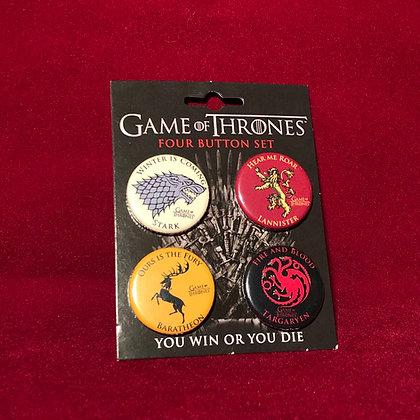 Botones x 4 Game of thrones (originales)