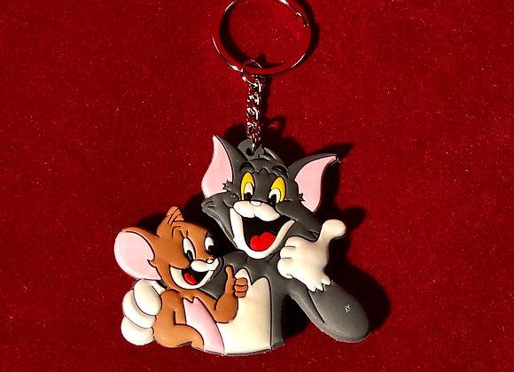 Llavero Tom y Jerry Goma