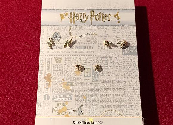 Aretes Harry Potter x 3