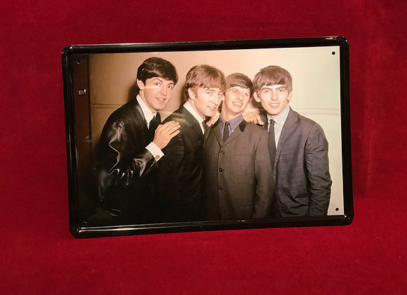 Placa The Beatles metal 20 x 30