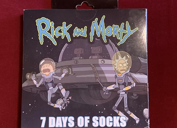 Set medias x 7 Rick and Morty