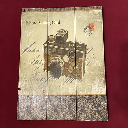 Cuadro madera importado fotografia