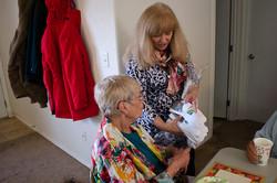 2361 Natasha Giving Linda Socks