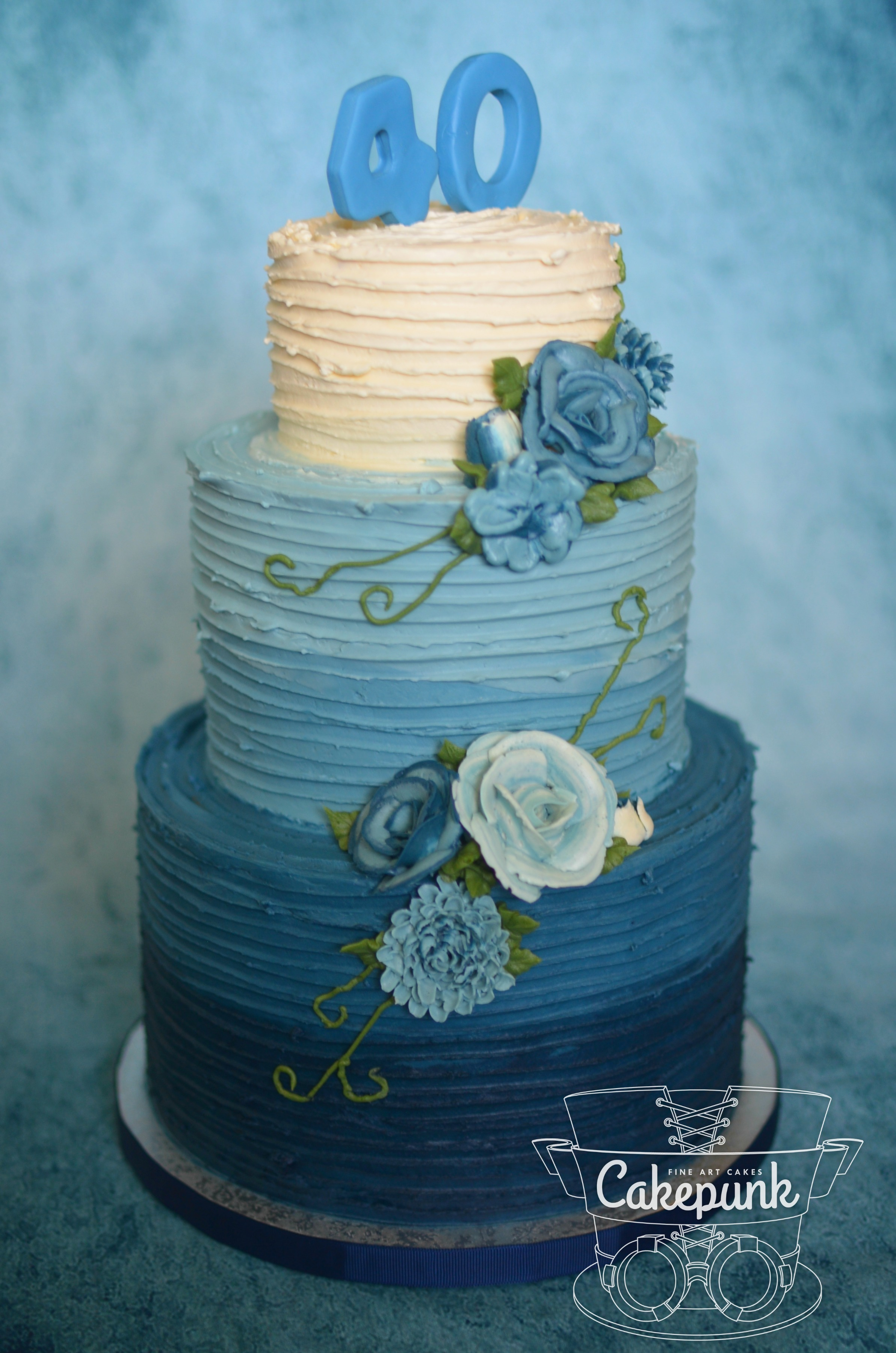 Blue Buttercream Beauty