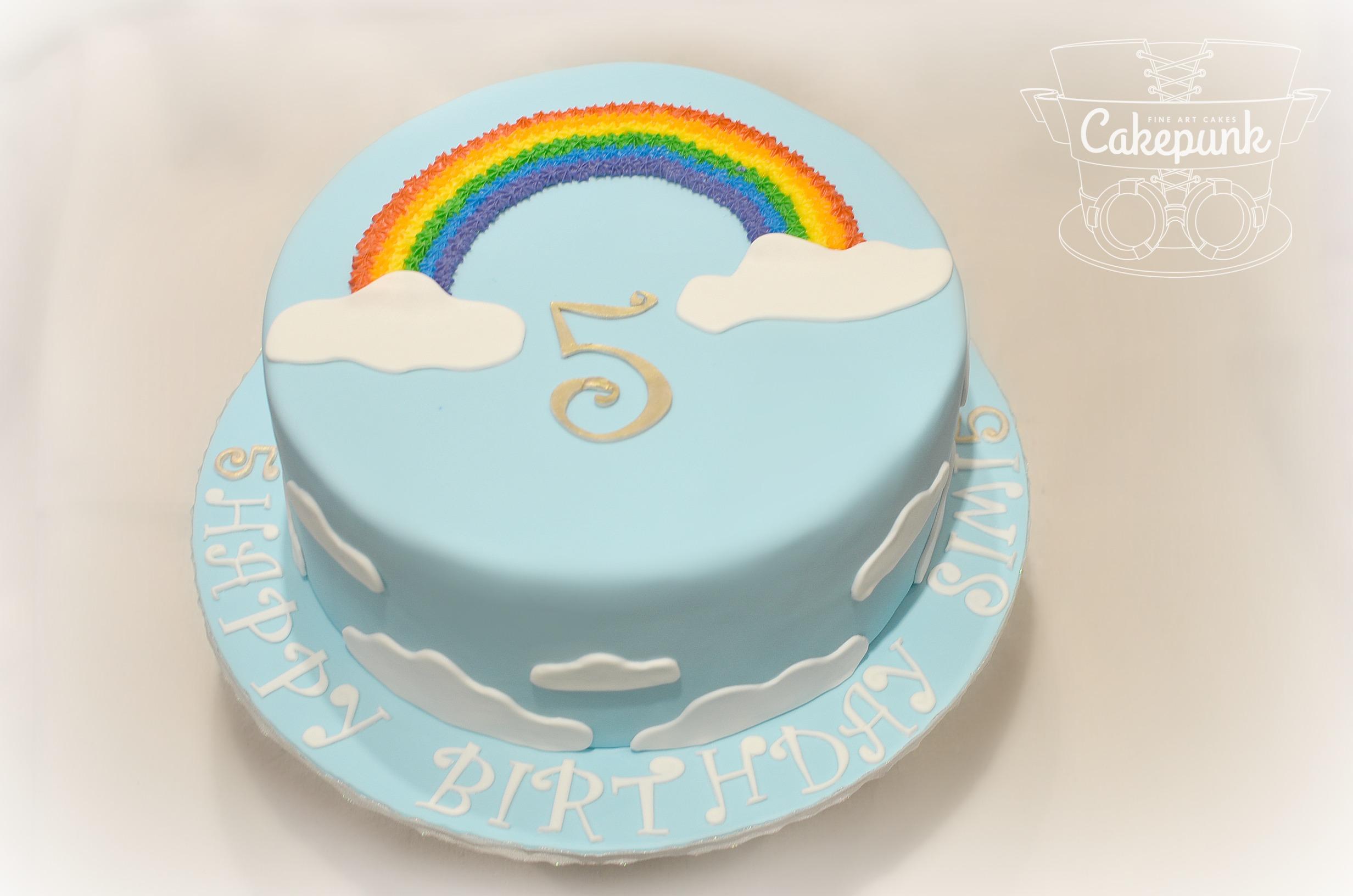 BIG Rainbow Cake