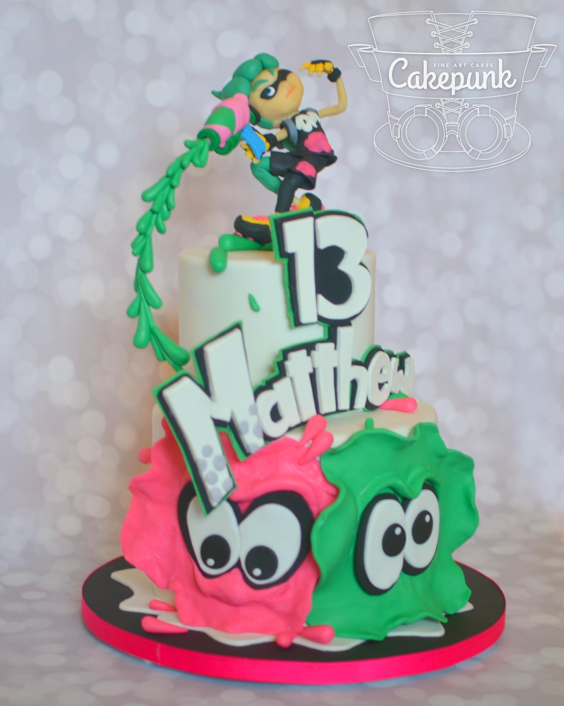 Splatoon Cake