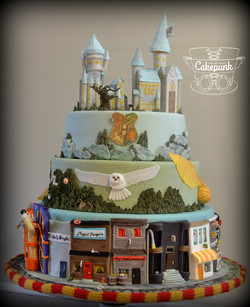 Harry Potter Cake ~ Back