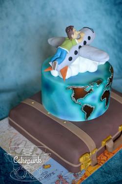 Graduation Travel Cake