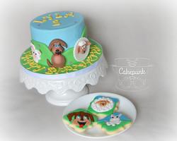 Animal Cake & Matching Cookies