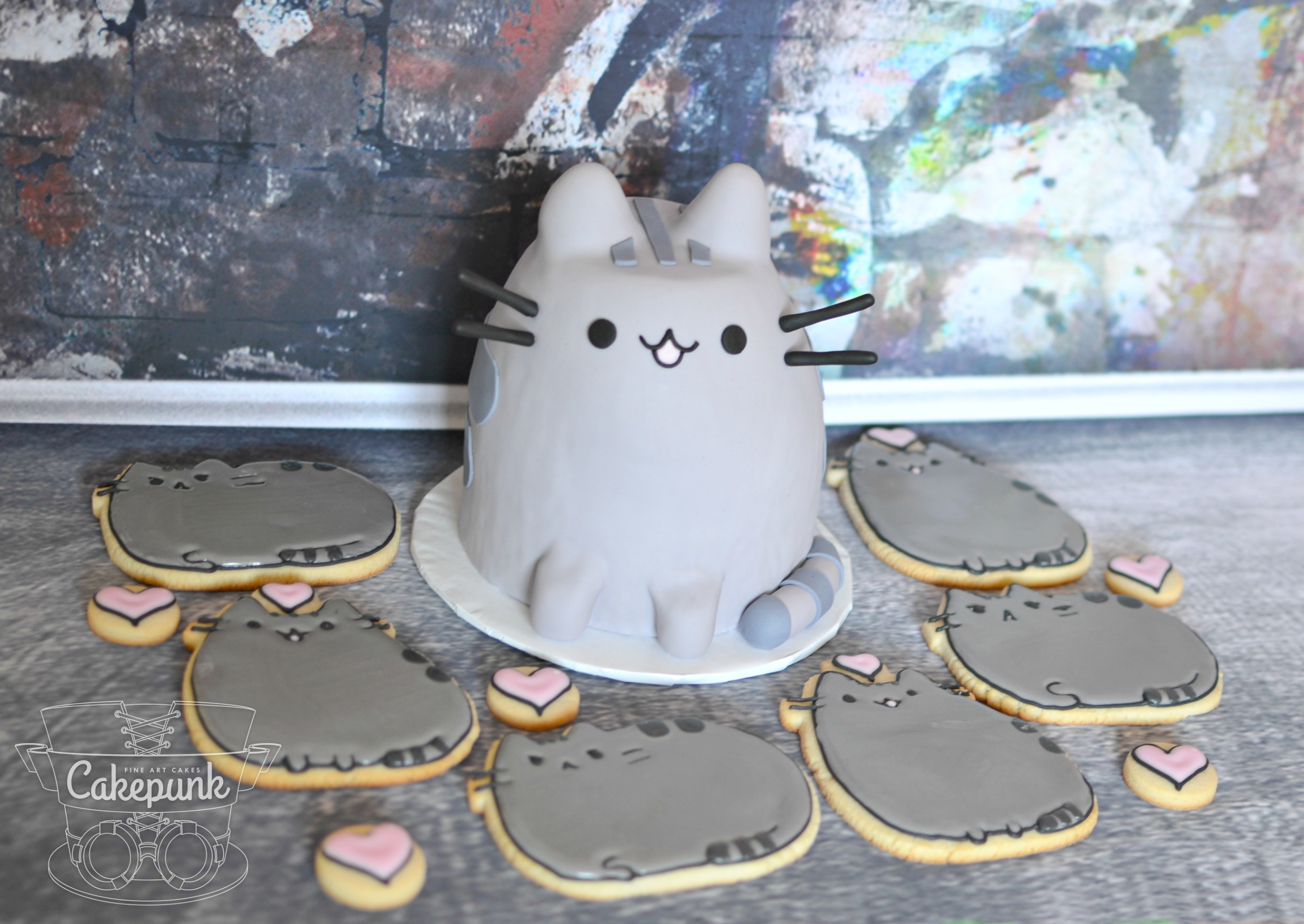 Pusheen Cake and Cookies