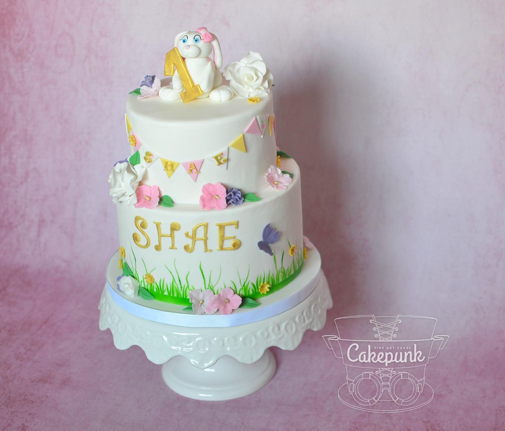 Bunny Bunting Cake