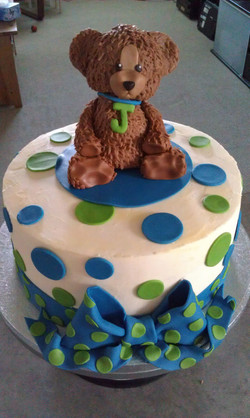 Baby Shower Teddy Bear Cake