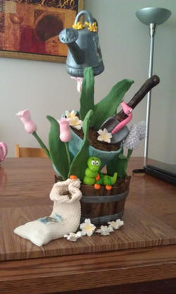 Susan Carberry Class Garden Pot Cake