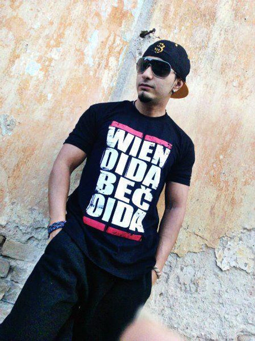 Wien Oida Bec Oida - T Shirt (schwarz)
