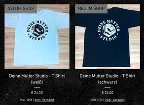 """Neue """"Deine Mutter Studio"""" T Shirts"""