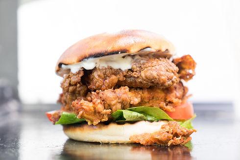 Crispy Chicken Double Burger by Bear Grills Bath
