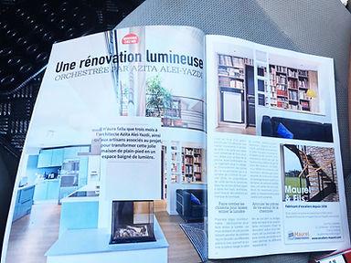 Rénovation maison, publication magasine De fil en Déco