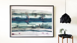 Solstice preview / Watercolour / 125 x 185cm