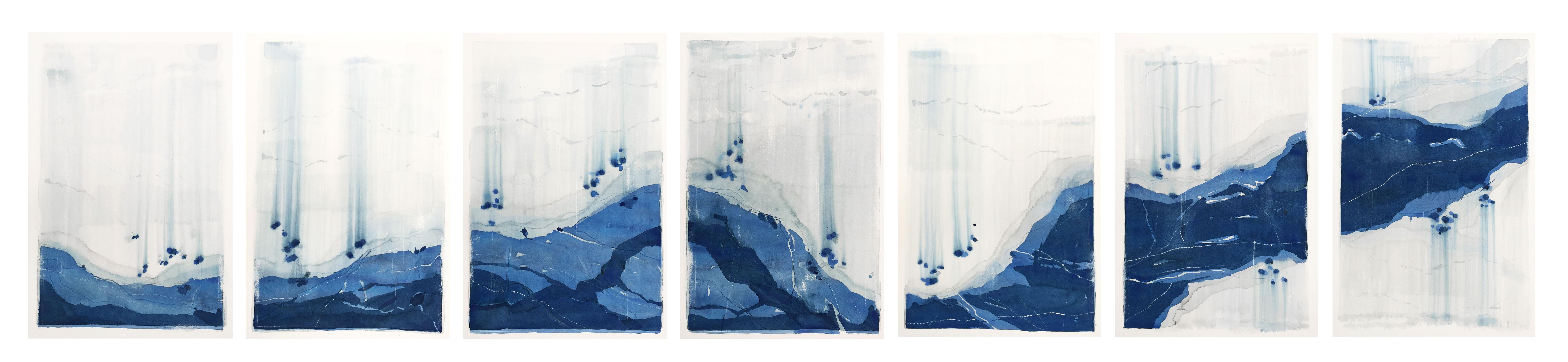 Stefan Gevers_Blue River_watercolour_76x