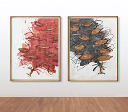 Stefan Gevers_Watercolour_Passage dyptic